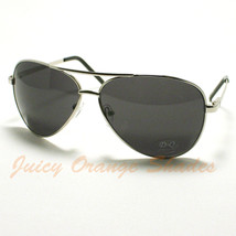 DQ Classic COP PILOT Aviator SPRING HINGE Sunglasses SILVER - $6.19