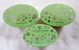 3 Colonial Candle ~~WHITE PEAR & CEDAR~~ Simmer Snaps/ Tarts 2.4oz Oval - $16.00