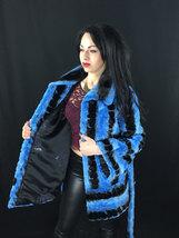 Luxury gift/ Blue/black /Mink fur coat/ Wedding,or anniversary present image 5