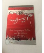 Vintage Matchbook Cover Matchcover Bolling US Air Force Open Mess Washin... - $5.70