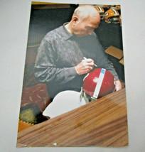 BART STARR / HALL OF FAME / AUTOGRAPHED CRIMSON TIDE THROWBACK HELMET / TRISTAR image 7