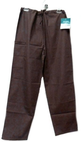 Brown Scrub Set XL V Neck Top Drawstring Pants Women's Medical Uniforms #616/701 image 6