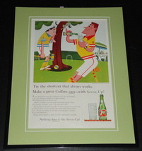 1959 7 Seven Up Collins 11x14 Framed ORIGINAL Vintage Advertisement - $46.39