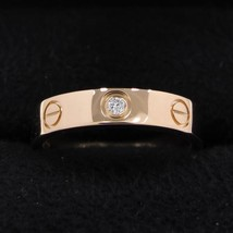 Cartier Mini Love Ring 1P Diamond K18PG US5 Used Excellent++ condition US5  - $1,725.17