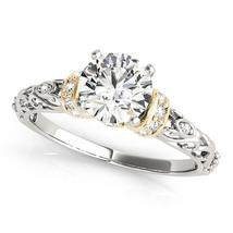 14k White And Yellow Gold Antique Style Diamond Engagement Ring (1 1/8 c... - $5,186.54