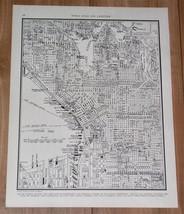 1941 ORIGINAL VINTAGE CITY MAP OF SEATTLE / WASHINGTON - $9.50
