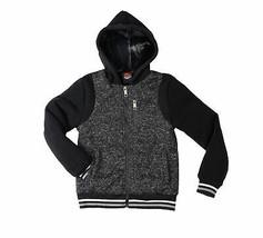 Active Cult Boys Kids Black Fleece Lined Zip Up Sports Hoodie Jacket XL (18-20) image 2