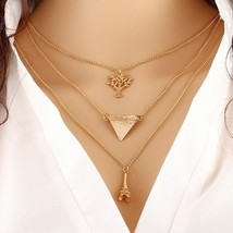 EIFFEL TOWER TRIANGLE PENDANT NECKLACE   (2412)  - $2.62
