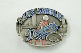 Vtg 1988 Los Angeles Dodgers Enameled Pewter Belt Buckle Siskiyou Buckle... - $28.54