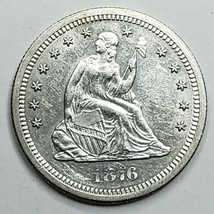 1876S United States Seated Liberty Quarter Dollar 25c Coin Lot A 155