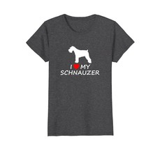 I Heart Love My Schnauzer Cute Dog Lover T-Shirt - $19.99+