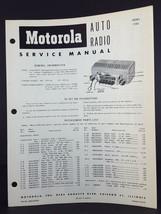 Motorola 1955 Chevrolet Auto Radio Service Manual Model CTA5 - $14.84