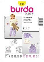 Burda 9829 Sewing Pattern Infants Toddlers Girls Jacket Blouse Pants Ski... - $11.76