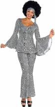 Amscan Dancing Queen Disco 70s Remolino Adulto Mujer Disfraz Halloween 8... - $52.49