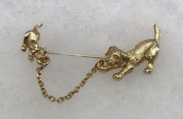 Vintage 1982 Avon MOTHERS LOVE Dogs Stickpin Gold Tone Collectible Gift - $6.26