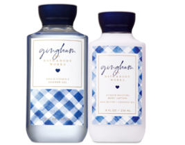 BATH & BODY WORKS Gingham Body Lotion + Shower Gel Set - $25.63