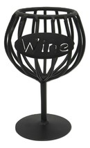 WINE CORK HOLDER - Wrought Iron Glass Kitchen Storage Rack USA AMISH HAN... - $24.74
