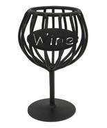 WINE CORK HOLDER - Wrought Iron Glass Kitchen Storage Rack USA AMISH HAN... - $24.74