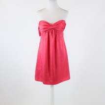 Pink satin BCBG MAX AZRIA empire waist strapless dress 2 - $19.99