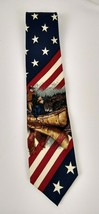 "Structure Fishing Patriotic Silk Neck Tie - Size 55.5 L x 4"" W - $8.59"
