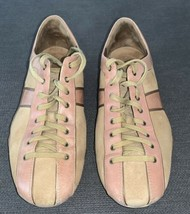 Cole Haan NikeAir Womens Size 9B Shoes Sneakers Pink Tan Suede Leather - $19.79