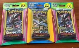 3 x Pokemon Sun & Moon Guardians Rising 2 Mini Boosters 1 Bonus Card - $19.75