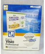 MICROSOFT 2002 VISO PROFESSIONAL BUSINESS AND TECHNICAL DIOGRAMMING SOFT... - $29.69