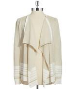 Nwt $79 Calvin Klein Open Front Swingy Flyaway Lurex Cardigan Sweater Go... - $29.69