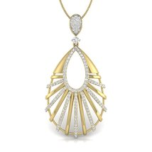 Anniversary Gift For Her Jewelry Pendant Solid 10k Yellow Gold Necklace ... - $329.99