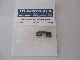 Trainworx Stock #183-8 Snowplow  Common Flat Top GN/BNSF Green N-Scale- image 3