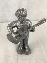 Ricker Pewter Neil Guitarist  Play Orchestra Numbered 3757 Figurine  - $19.75
