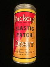 Vintage Buckeye (elastic patch) Dozit tin packaging image 6