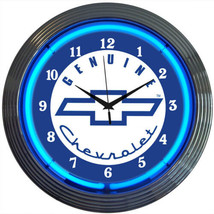 "Gm Genuine Chevy Neon Clock 15""x15"" - $69.00"
