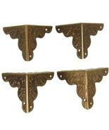 10Pcs Antique Box Corner Wooden Case Corner Brackets Protector Guard Carved - $6.47