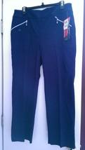 NWT Ladies JAMIE SADOCK NOCTURNAL NAVY BLUE Golf Ankle Pants 16 18 Skinn... - $89.99