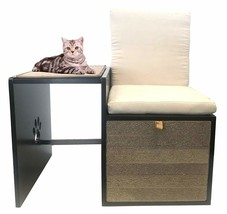 Penn Plax Cat Walk Love Seat with Scratching Post & Pad Plus Cushioned H... - £99.91 GBP