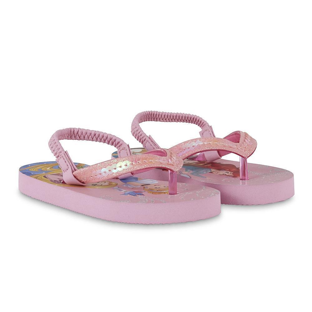 NEW Girls Toddler or Child Disney Princess Flip Flops Size 5/6 7/8 11/12