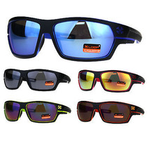 Mens Xloop Warp Around Sport Plastic Rectangular Sunglasses - $12.95