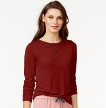 Calvin Klein Liquid Lounge Long-sleeve Knit in Red (Cranberry) size M (NWT $50) image 2