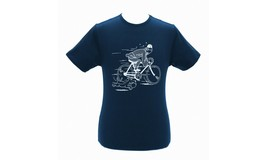 Tintin & Snowy Bike blue t-shirt The Blue Lotus Official Product Moulinsart image 2