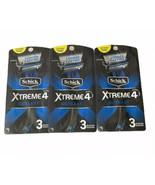 3X- SCHICK XTREME 4 OUTLAST w/ EDGER TITANIUM COATED DISPOSABLE RAZORS (... - $16.79