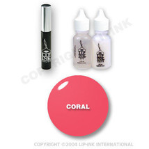 LIP INK Organic  Smearproof Special Edition Lip Kit - Coral - $49.90