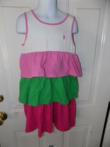 U.S POLO  ASSN. LAYERED RUFFLED  DRESS SIZE 6X GIRL'S EUC - $17.94