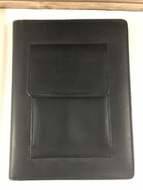 Day-Timer Leather Planner Journal Organizer 177 pg Black Meeting Notes 9... - $8.61