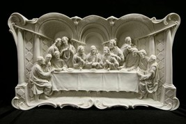 The Last Supper Jesus Wall Plate Plaque Catholic Religious Statue Made i... - $319.99