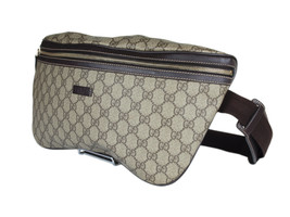 Gucci GG Patterns PVC Canvas Leather Browns Crossbody Bag GW2273 - $849.00