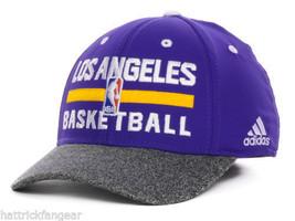 Los Angeles LA Lakers Adidas NBA Basketball Practice Stretch Fit Cap Hat L/XL - $20.85