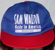 Sam Walton Made America Doubleday red white blue Hat Cap Advertising Vtg... - $143.99