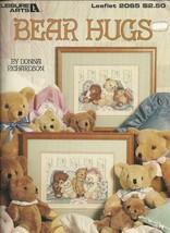 Bear Hugs Cross Stitch Leisure Arts No. 2065 Pattern Leaflet - $6.99