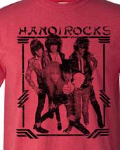 Hanoi rocks 80s heavy metal hair band t shirt red thumb200